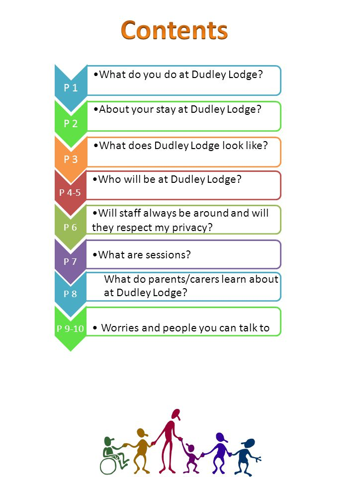P 1 What do you do at Dudley Lodge. P 2 About your stay at Dudley Lodge.