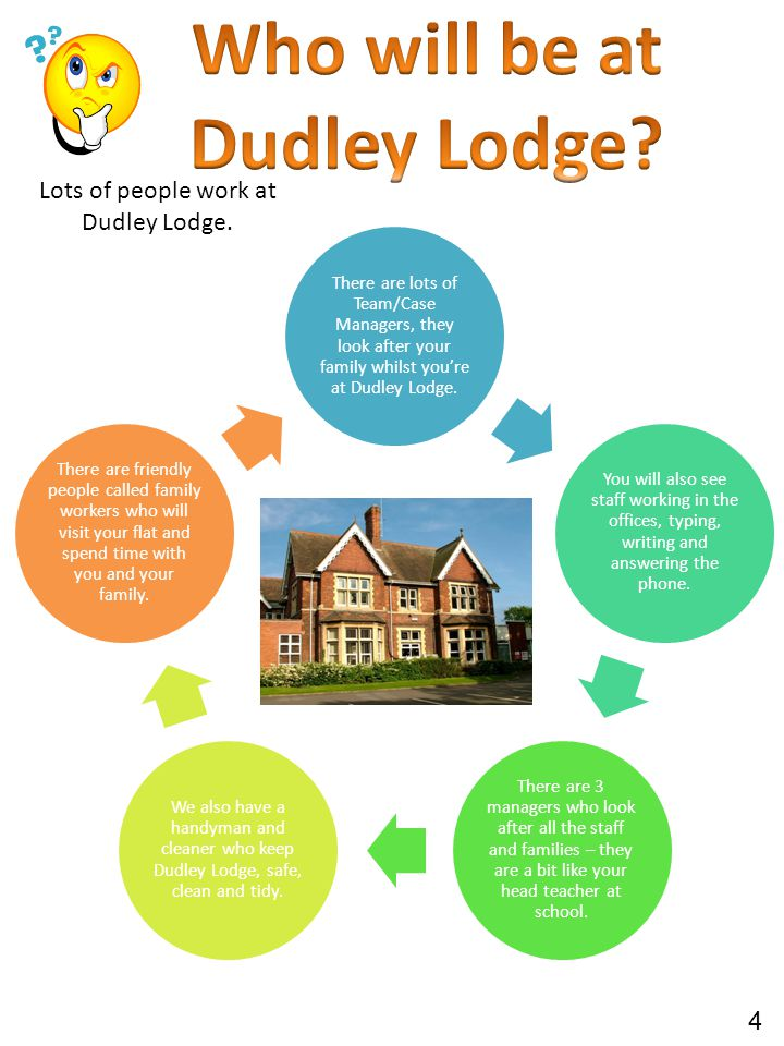 Lots of people work at Dudley Lodge.