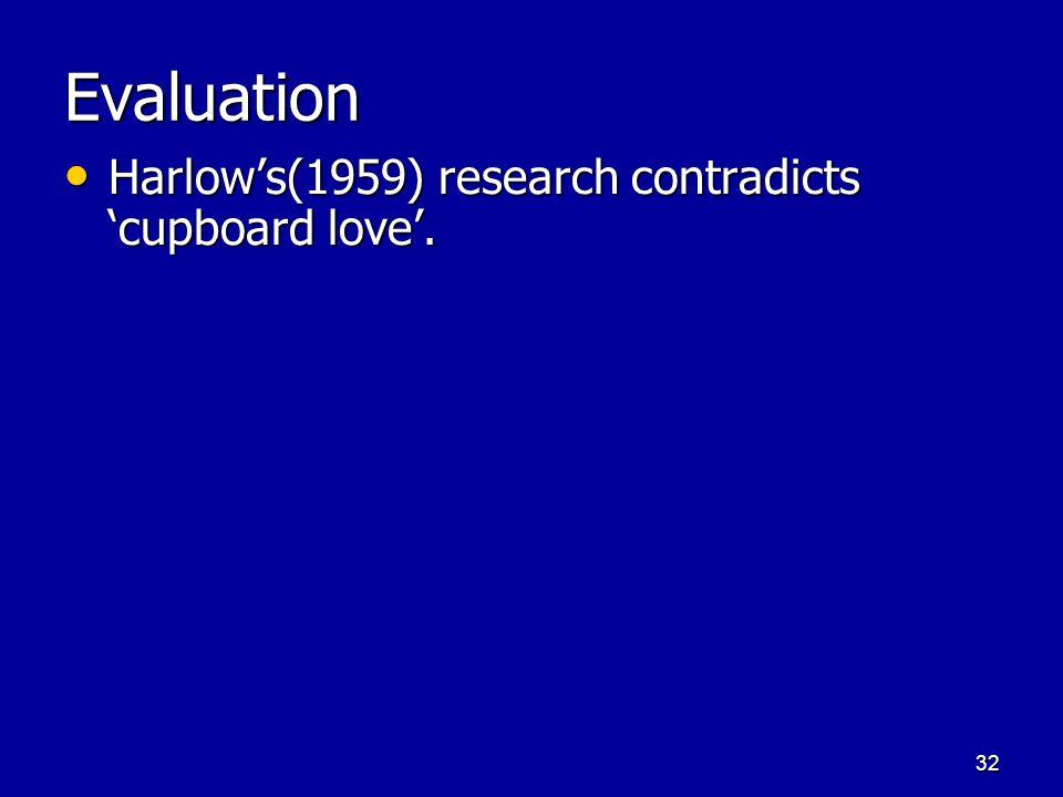31 The Psychodynamic Approach 'Cupboard-love': Libidinal desires are satisfied. 'Cupboard-love': Libidinal desires are satisfied. –Oral stage – pleasu