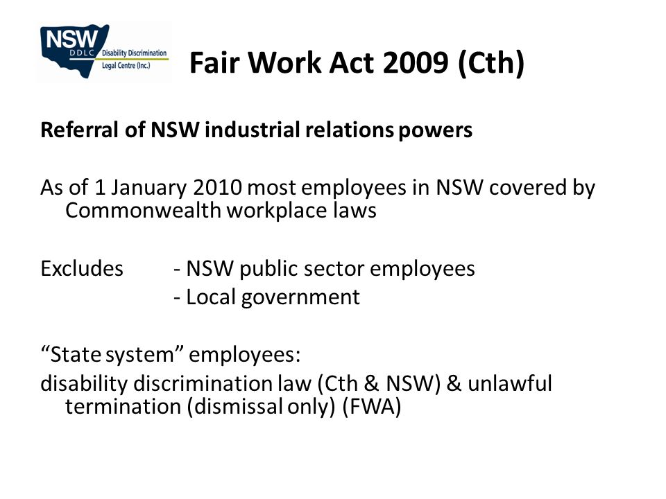 Fair Work Act 2009 (Cth) What.