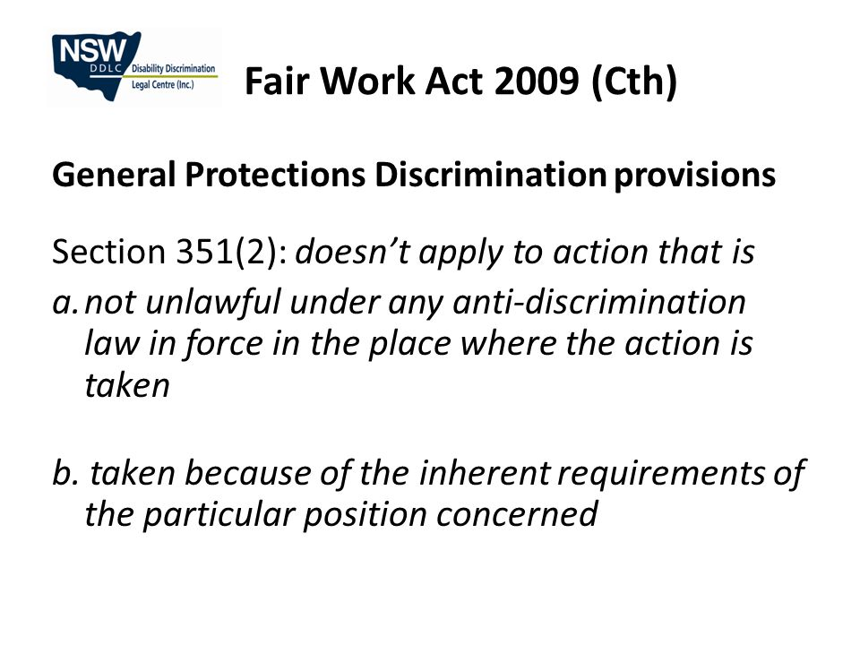 Fair Work Act 2009 (Cth) Personal and carer's leave Part-time and full-time employees 10 days paid personal/carer's leave each year (pro rata) 2 days paid compassionate leave per occasion All employees (including casuals) 2 days unpaid carer's leave per occasion (after paid leave if applicable is used).