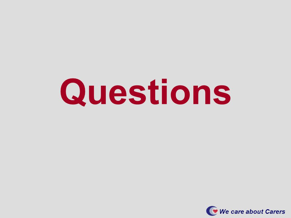 We care about Carers Questions