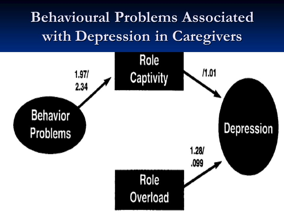 Dr. Joel Sadavoy MSH Behavioural Problems Associated with Depression in Caregivers