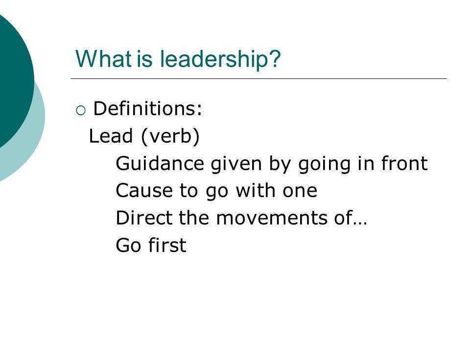 What is leadership.