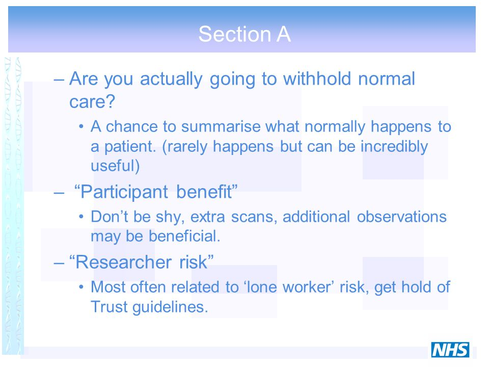 Section A –Are you actually going to withhold normal care.