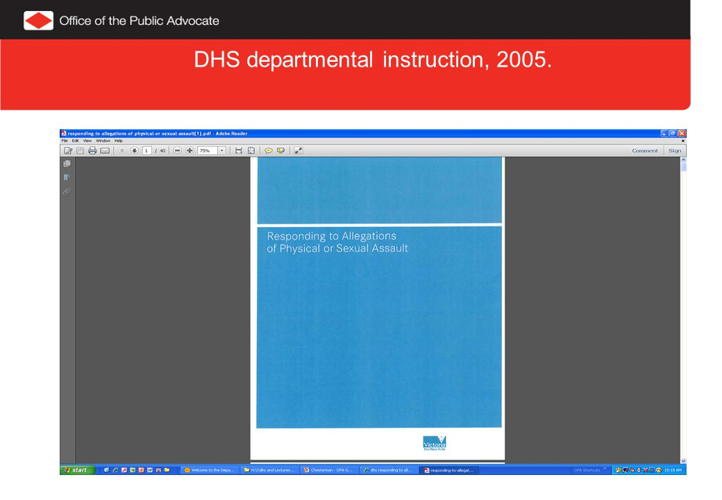 DHS departmental instruction, 2005.