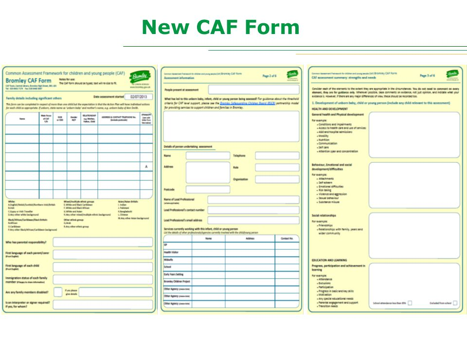 New CAF Form
