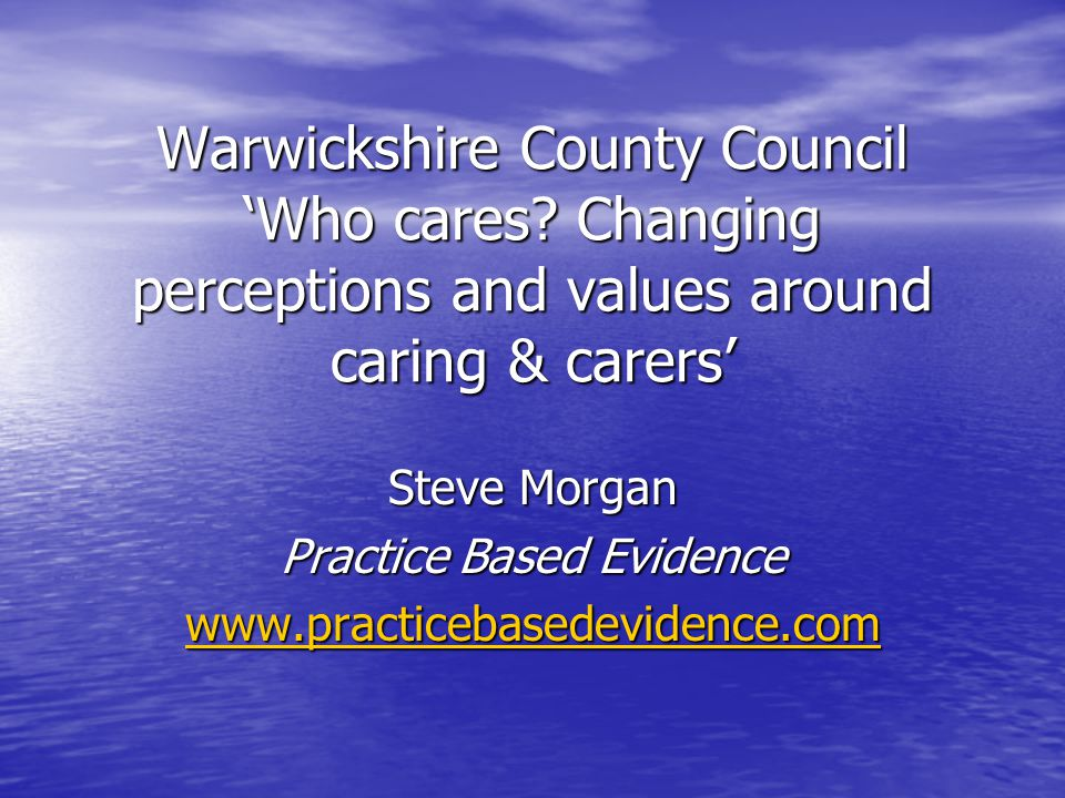 Warwickshire County Council 'Who cares.