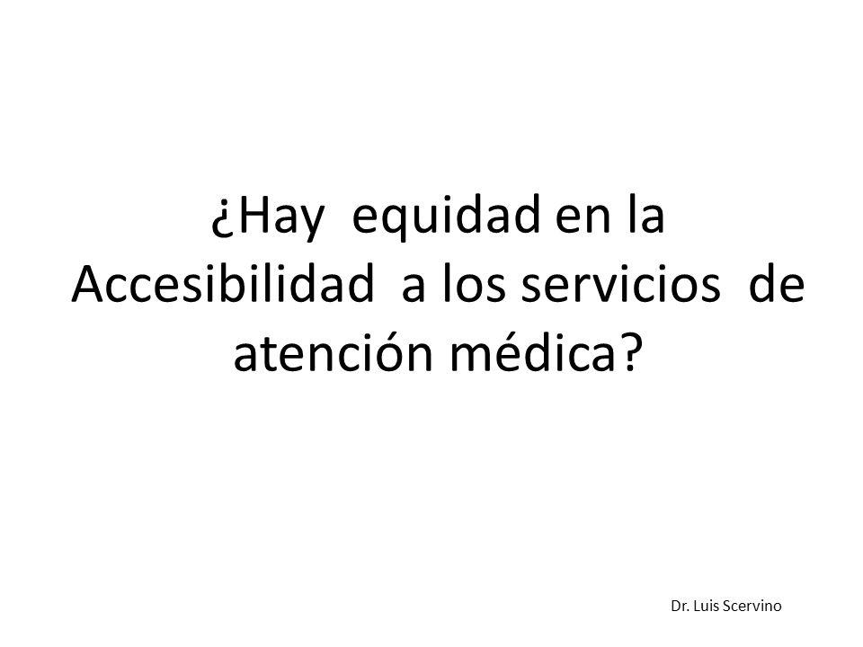 Dr. Luis Scervino ¿Hay equidad en la Accesibilidad a los servicios de atención médica