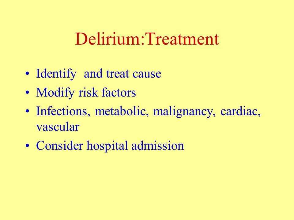 Other Treatments: Antioxidants Vitamin E .Delays institutionalisation.