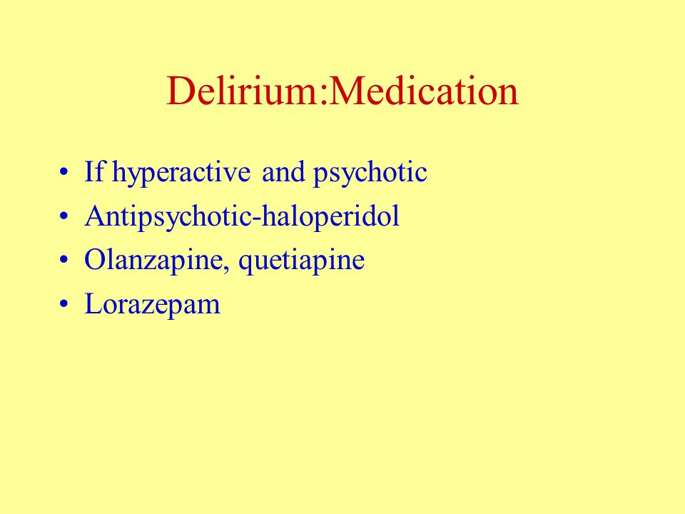 The Dementias: Other Pharmacological Treatments Agitation, irritability, anxiety and verbal aggression Trazodone 50mgs/day up to 250mgs day Sedation, anticholinergic Citalopram 10-20mgs/day up to 40mgs/day palpitations., postural hypotension, confusion Depression- antidepressant