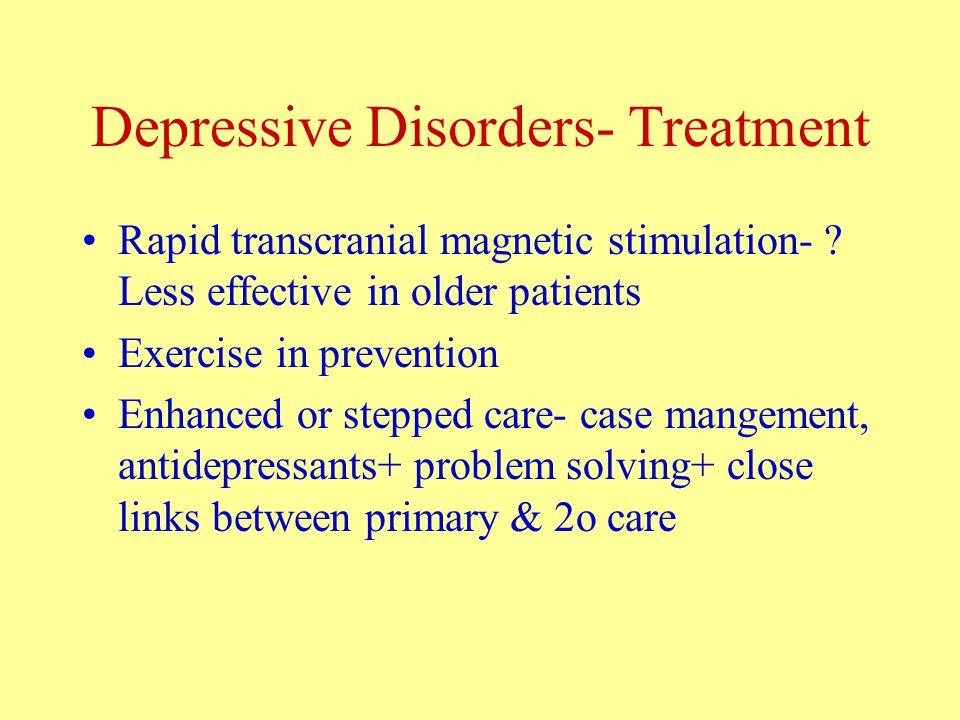 Depressive Disorders- Treatment Rapid transcranial magnetic stimulation- .