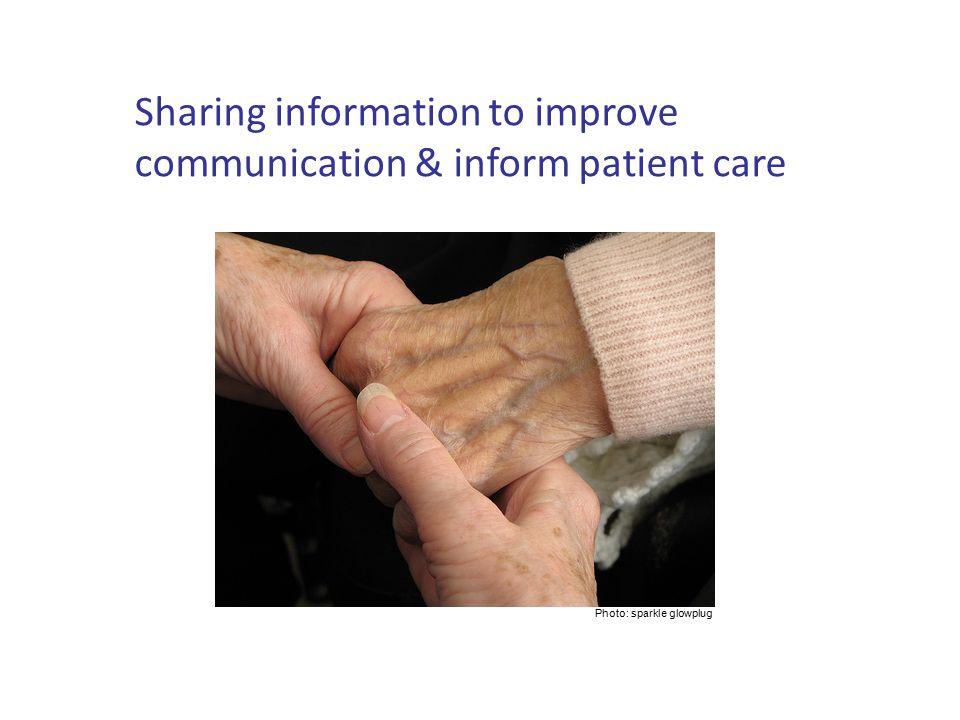 Sharing information to improve communication & inform patient care Photo: sparkle glowplug