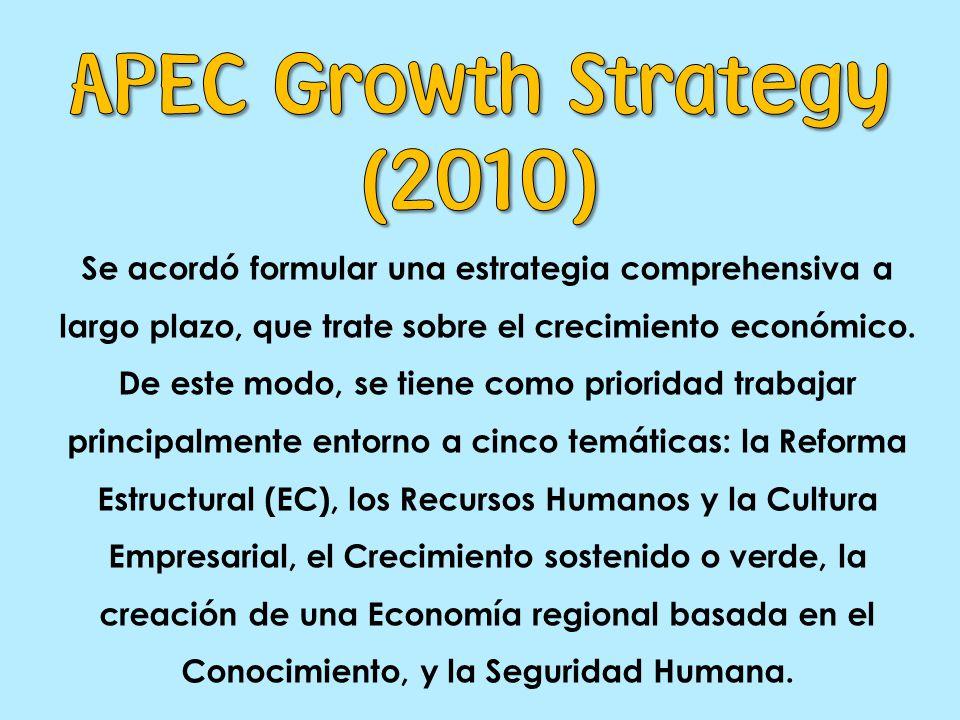 Se acordó formular una estrategia comprehensiva a largo plazo, que trate sobre el crecimiento económico.