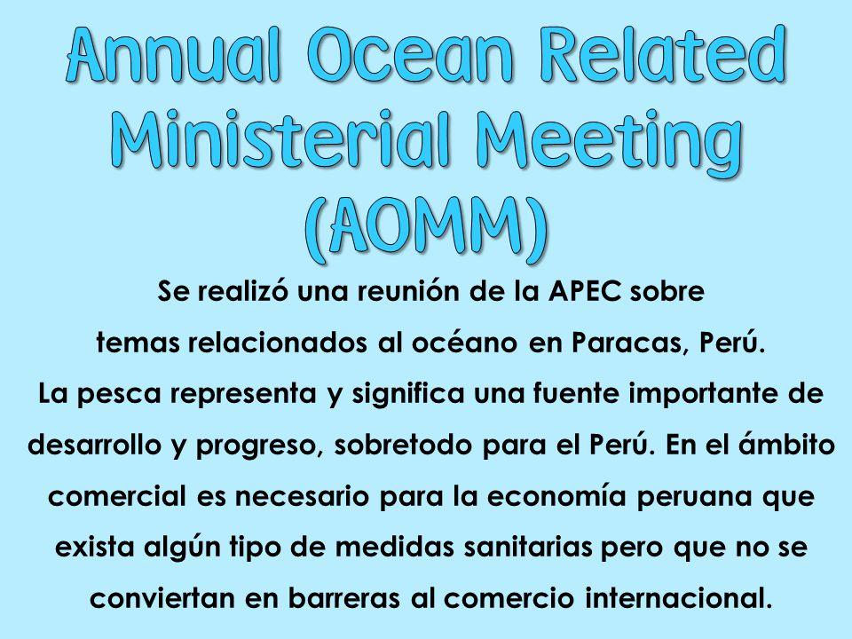 Se realizó una reunión de la APEC sobre temas relacionados al océano en Paracas, Perú.