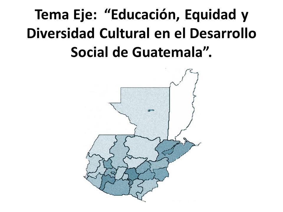 """Tema Eje: """"Educación, Equidad y Diversidad Cultural en el Desarrollo Social de Guatemala""""."""