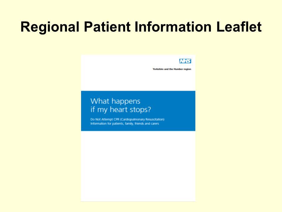 Regional Patient Information Leaflet