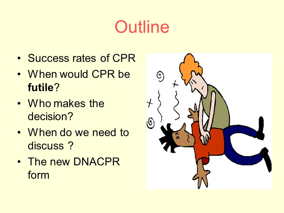 Outline Success rates of CPR When would CPR be futile.