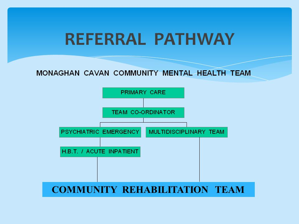 REFERRAL PATHWAY COMMUNITY REHABILITATION TEAM