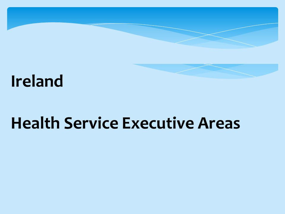Ireland Health Service Executive Areas