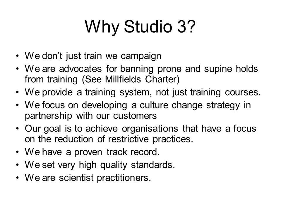 Why Studio 3.