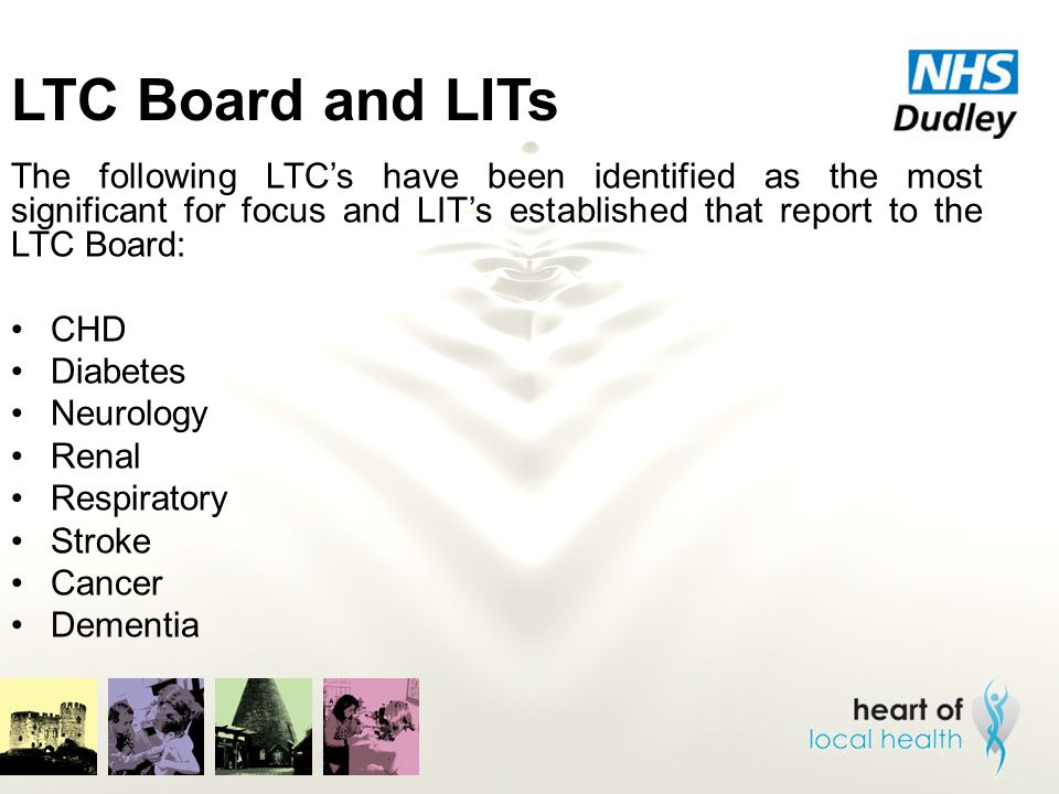 LTC Board and LITs The following LTC's have been identified as the most significant for focus and LIT's established that report to the LTC Board: CHD