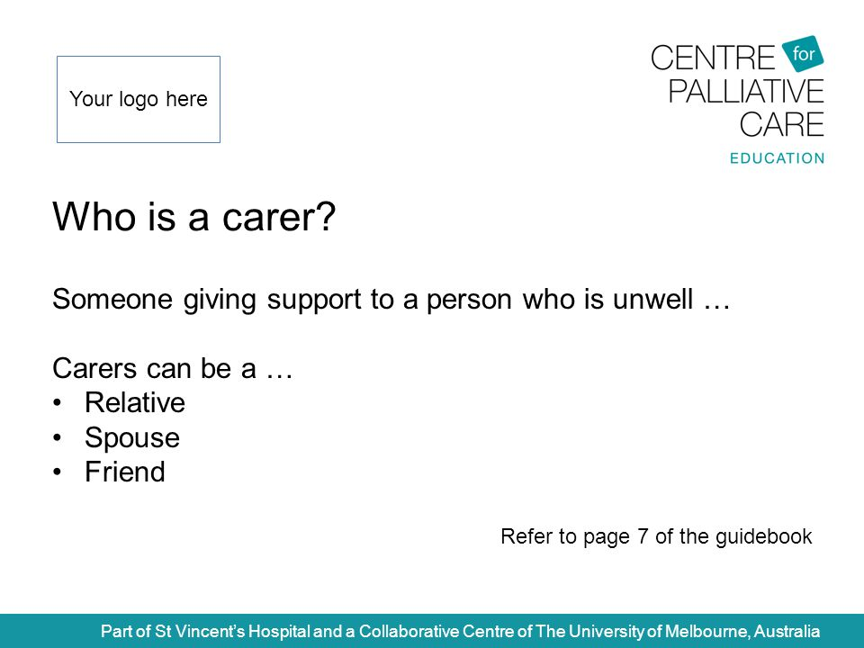 Who is a carer.