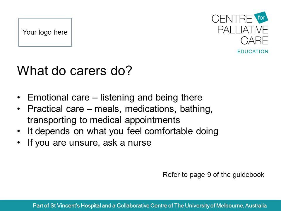 What do carers do.