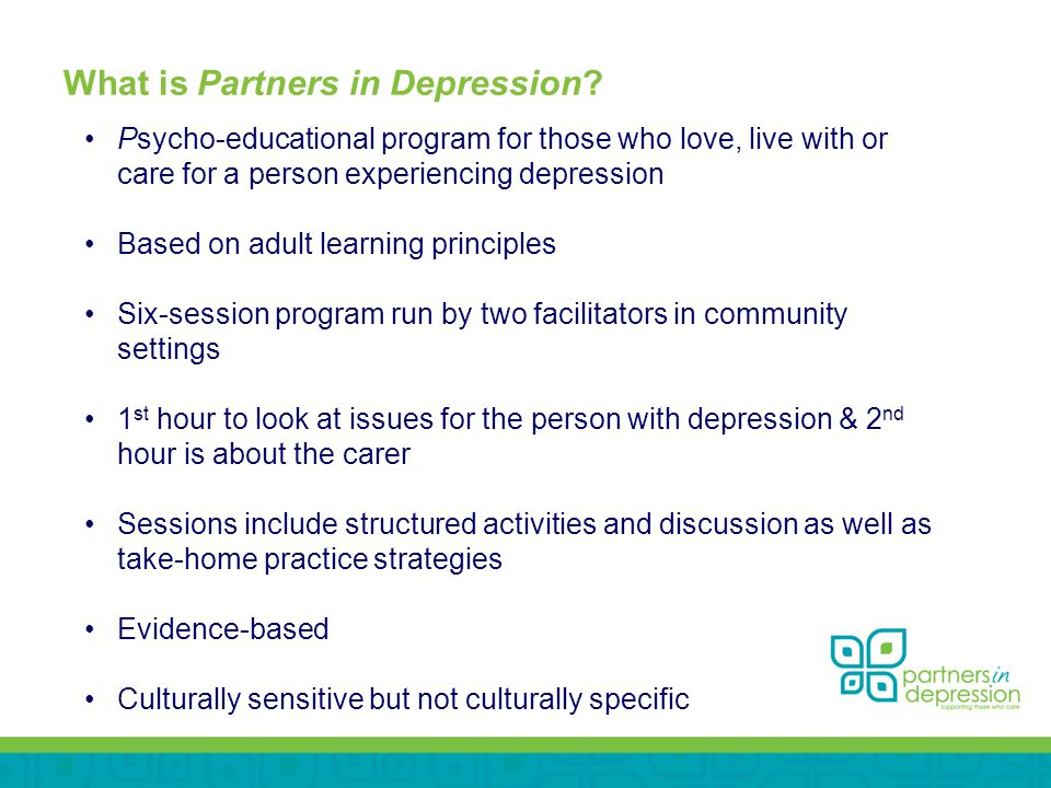 What is Partners in Depression.