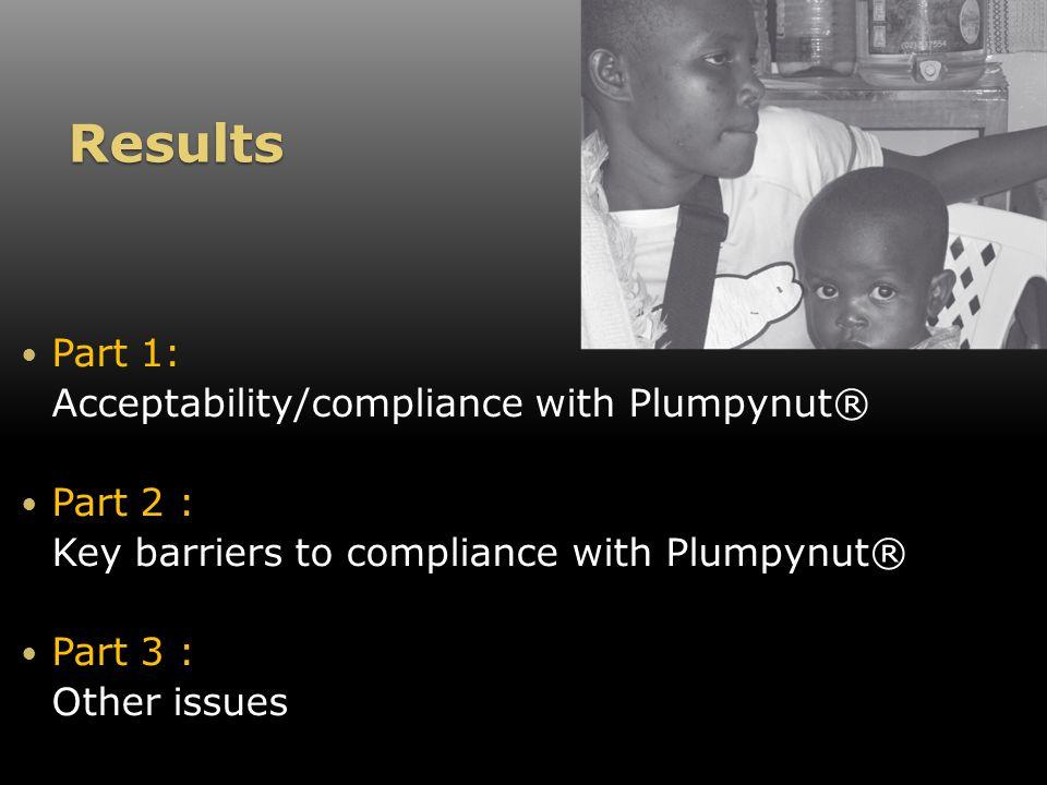 Results – Part 1: Acceptability & Compliance KI = key informants FG = focus groupsDO = direct observations