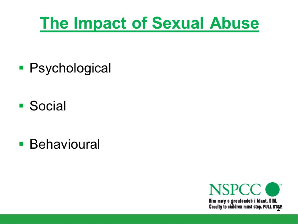 The Impact of Sexual Abuse  Psychological  Social  Behavioural 2