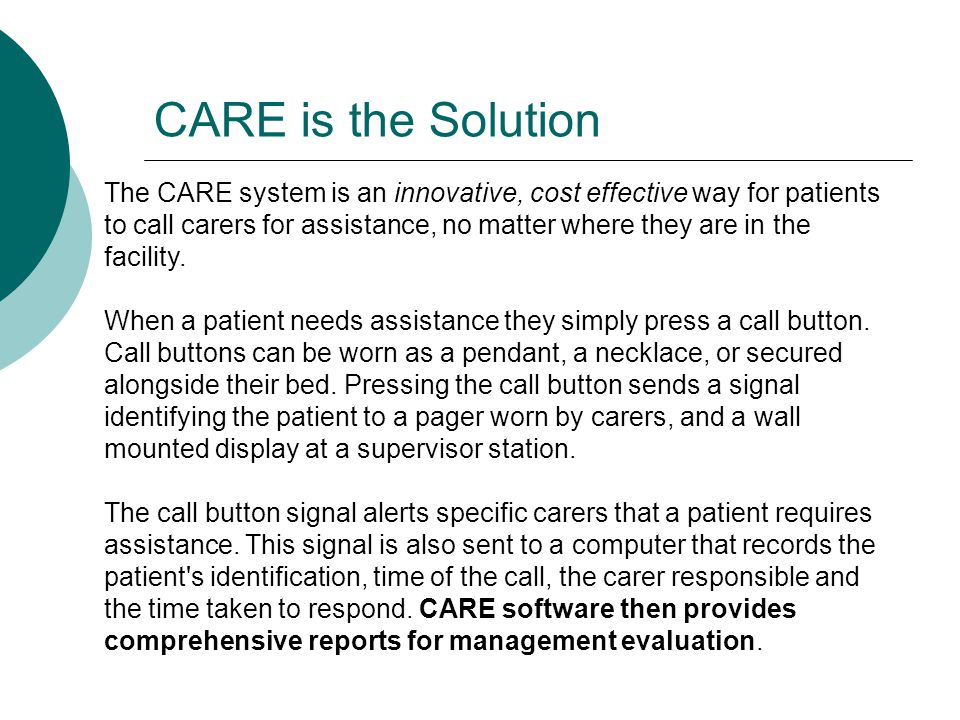  CARE connects patients to carers and carers to carers.