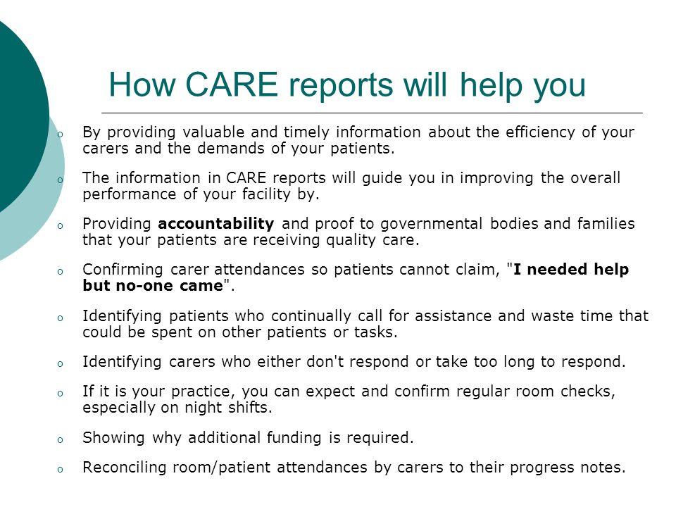 CARE Benefits  Accreditation.