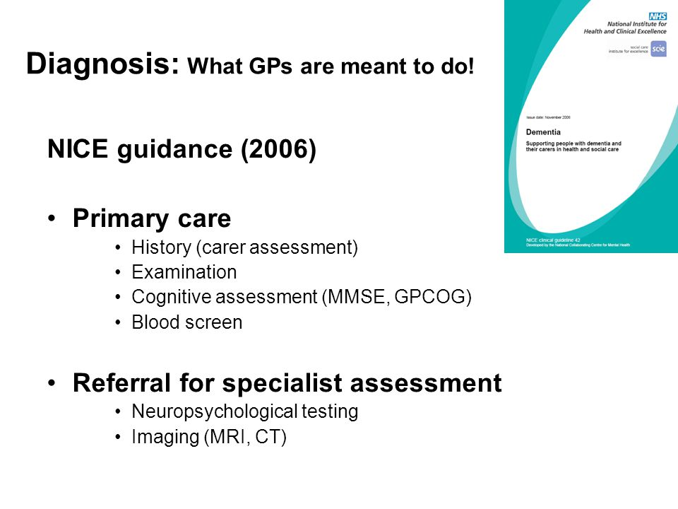 Diagnosis: What GPs are meant to do.