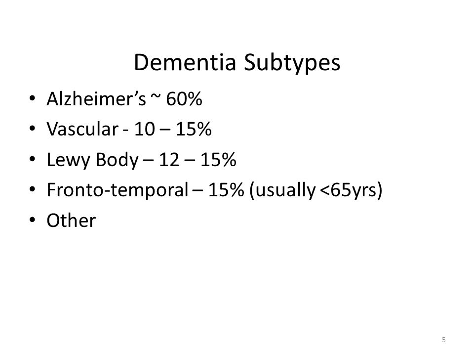Dementia or Delirium Dementia – Insidious onset – Slow, gradual decline – Disorientation later – Mild variations day-day – Normal attention span – Usually fully alert – Few psychomotor changes – Physiological changes – Sleep–wake changes later Delirium – Abrupt onset – Short acute illness – Marked disorientation – Very variable – Poor attention – Fluctuating alertness – Agitated/retarded – Physiological changes common – Sleep-wake changes common 16
