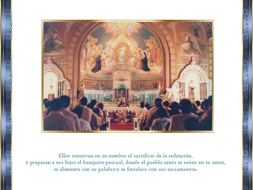 Él no sólo ha conferido el honor del sacerdocio real a todo su pueblo santo, sino también, con amor de hermano, ha elegido a hombres de este pueblo, para que, por la imposición de las manos, participen de su sagrada misión.