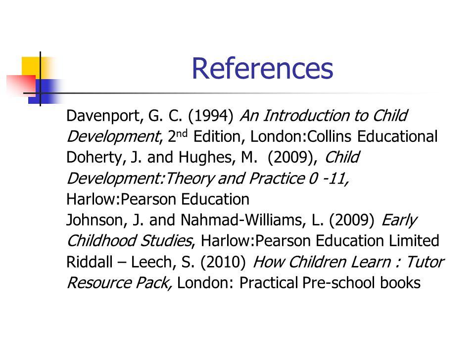 References Davenport, G.C.