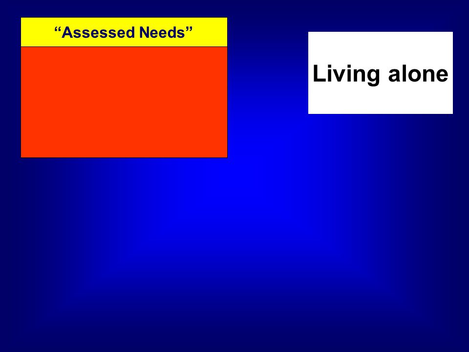 Assessed Needs Living alone
