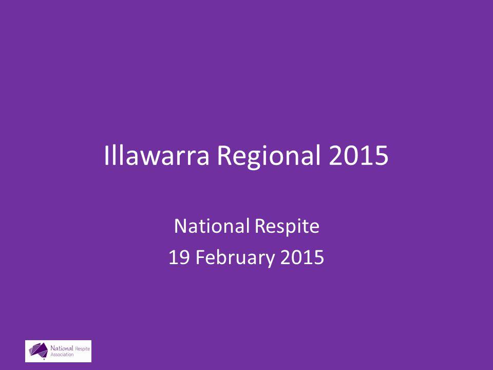 Illawarra Regional 2015 National Respite 19 February 2015