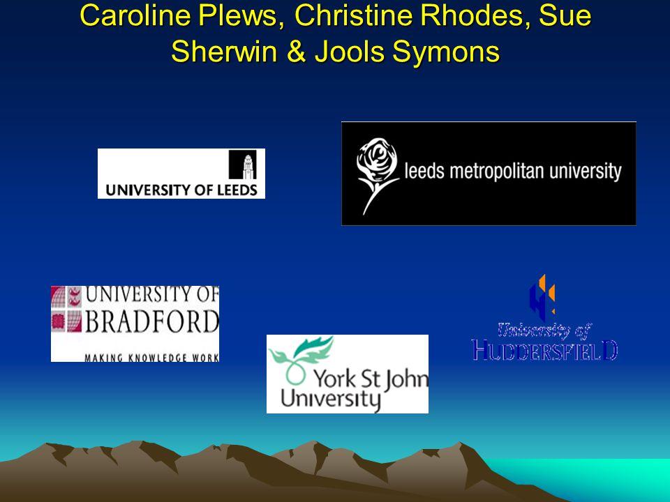 Caroline Plews, Christine Rhodes, Sue Sherwin & Jools Symons