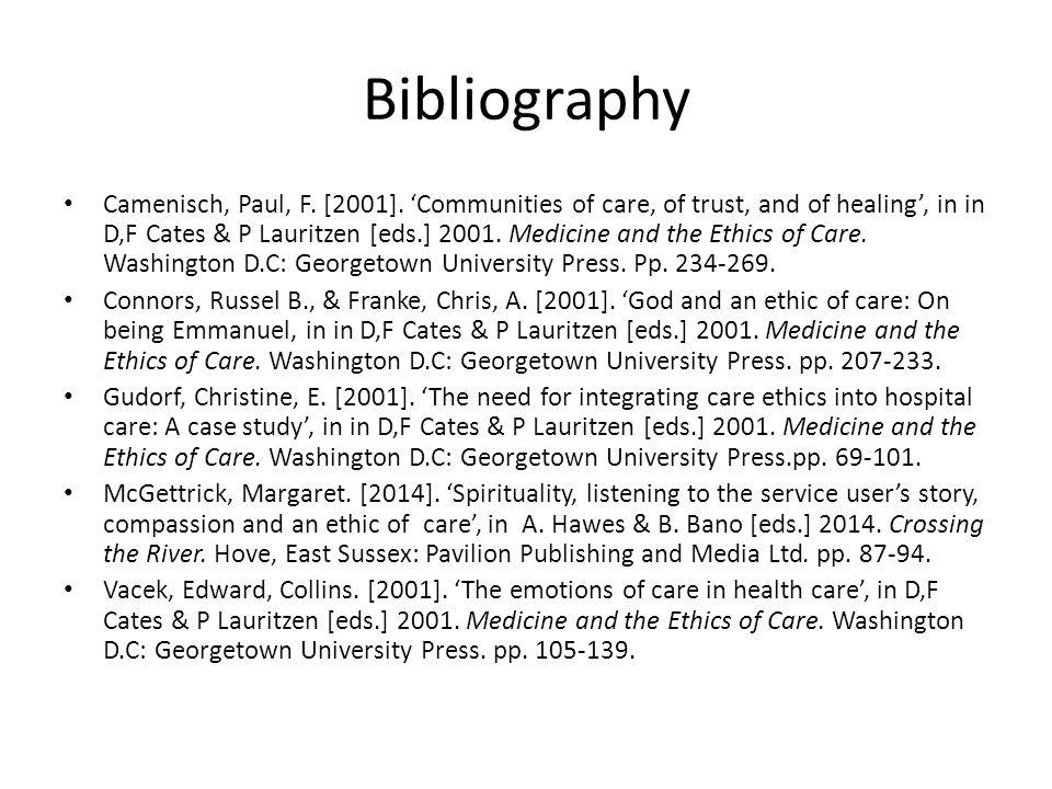 Bibliography Camenisch, Paul, F. [2001].
