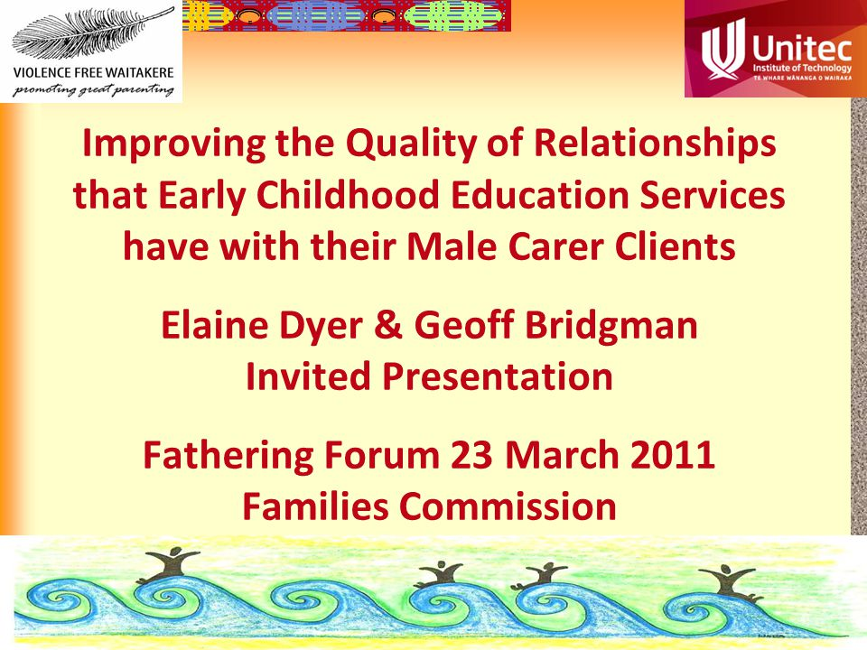 12-22 Mens Survey many men play a major role if not the major role in the care of their children.