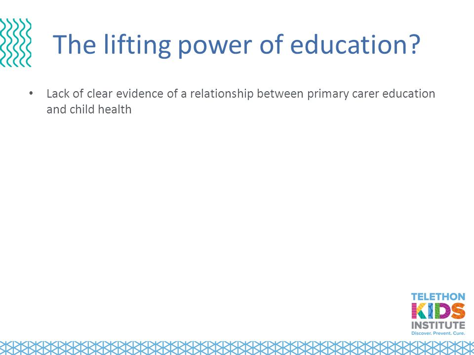 The lifting power of education.