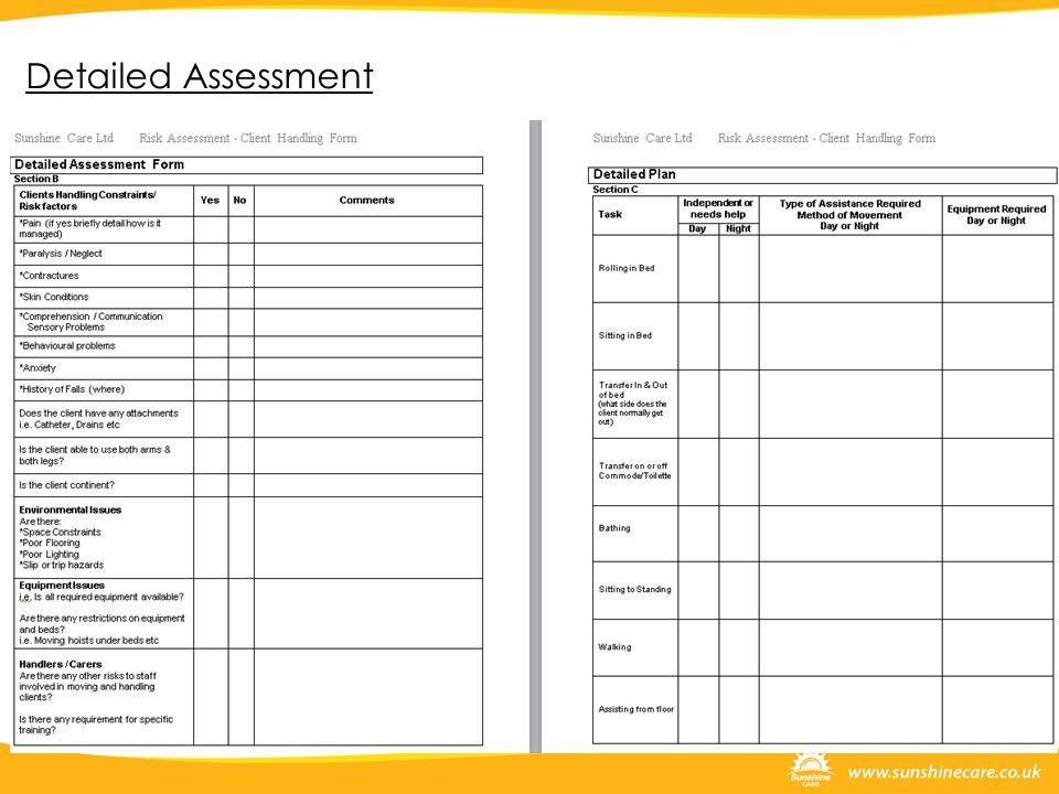 Detailed Assessment