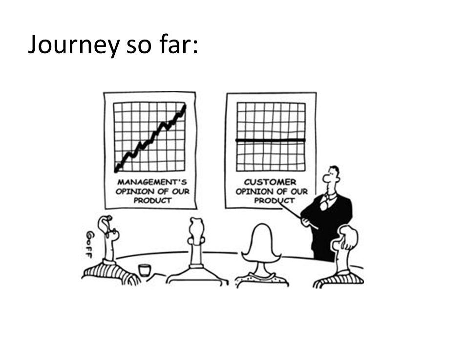 Journey so far: