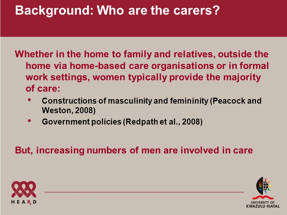 Background: Who are the carers.