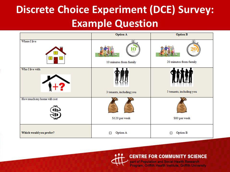 Discrete Choice Experiment (DCE) Survey: Example Question