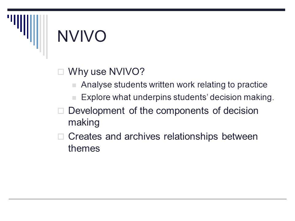 NVIVO  Why use NVIVO.