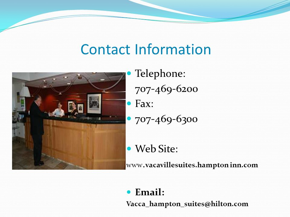 Contact Information Telephone: Fax: Web Site: www.