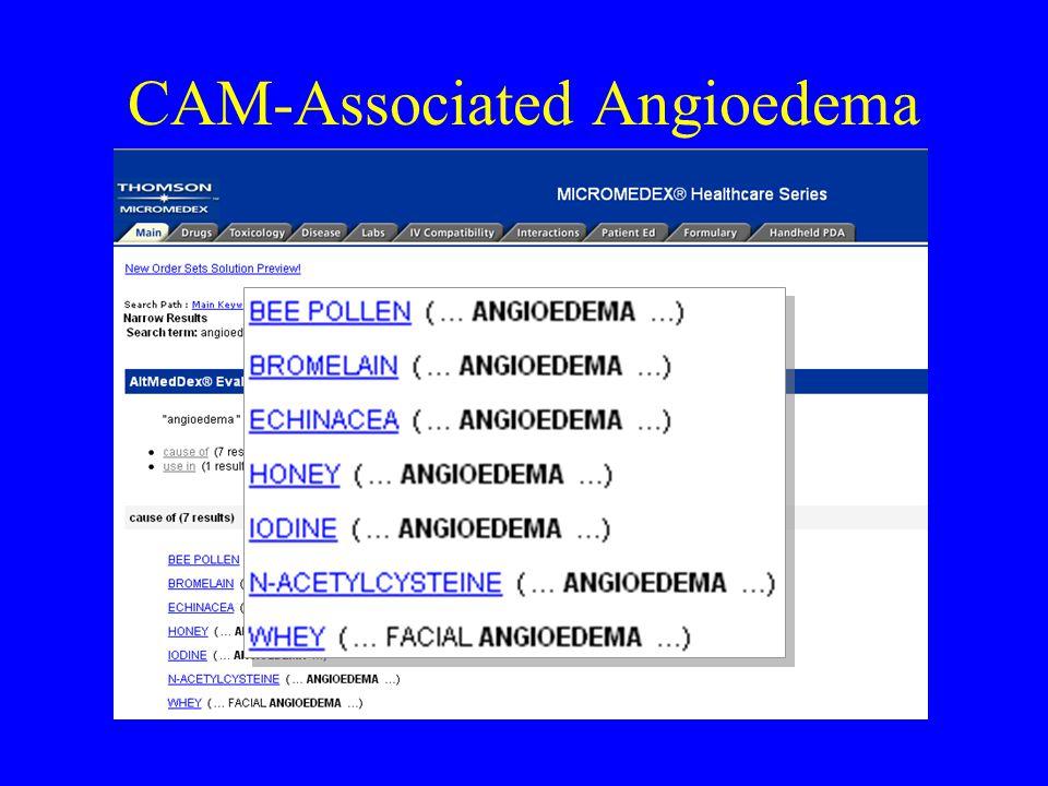 CAM-Associated Angioedema